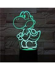 Yoshi Super Mario Led-videospel met wisselende kleuren, USB-nachtlampje en decoratie