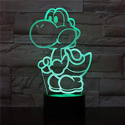 Yoshi LED-Videospiel Super Mario Farbwechsel USB Nachtlicht und Dekoration