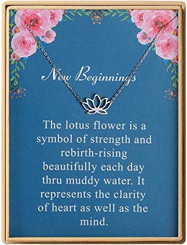 S925 Sterling Silver Dainty Lotus Necklace Yoga Pendant Necklace Friend Birthday Gift Women Jewelry