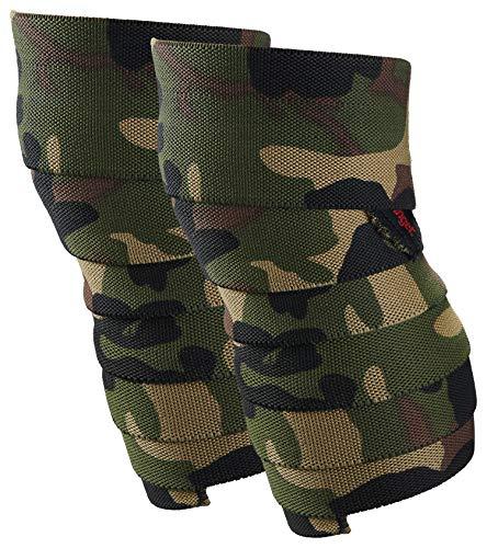 Harbinger Red Line Kniebandagen für Gewichtheben, 190 cm, Camo