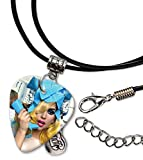 Lady Gaga Telephone Guitare Plectre Cord Necklace Collier (F1)