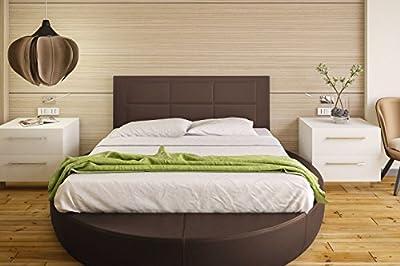 Tapizado en piel ecológica Válido para camas de 135 cm y 150 cm. Color: CHOCOLATE Preparado para colgar en la pared Medidas: ancho: 155 cm; alto: 55 cm; grosor: 3 cm