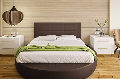 Hogar24-Cabecero Cama tapizado 155 x 55 x 3,0 cm, válido para Cama 135 y 150 cm. Color Chocolate