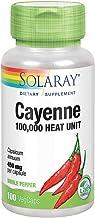 Solaray Cayenne Pepper 450 mg | 100,000 Heat Unit | Healthy Digestion, Circulation, Metabolism & Cardiovascular Support | ...