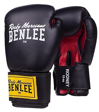 Benlee Rocky Marciano Rodney - Guante de boxeo (PVC), color negro/rojo, talla 12