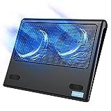 TECKNET Laptop Cooling Pad, Portable Ultra-Slim Quiet Laptop Notebook...