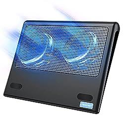 cheap TECKNET laptop cooling pad, Portable, super flat, quiet laptop cooling pad …