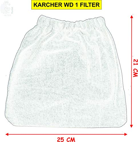 RODAK Reusable Vacuum Cleaner Filter Compatible with Karcher WD 1 and Inalsa WD 10