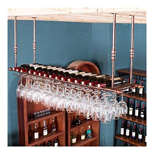 HJXSXHZ366 Estantería de Vino Portavasos, portavasos y portavasos de Metal Europeo for Vino Estante de Vino pequeño (Color : Bronze, Size : 60 * 30cm)