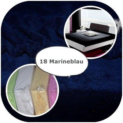 #1 Kinder Jersey Spannbettlaken, Spannbetttuch, Bettlaken, 70x160 cm, Marineblau
