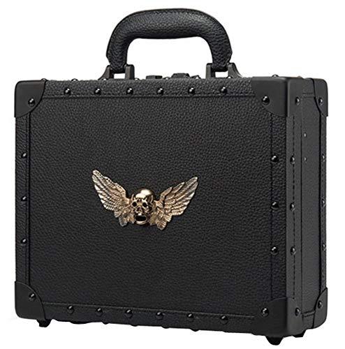 MJZYP Portable Barber Toolbox, Clipper Storage Suitcase Flight Case Toolbox Tool Organiser Lockable Storage Box 1 Combination Locks Black