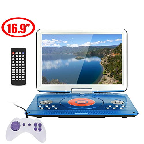 Why Should You Buy 16.9 Inch Portable DVD Player, Rotatable Screen Multi Media DVD for Game TV Funct...