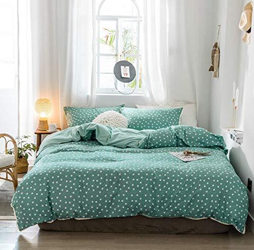 LSXA Bedding 4 Piece Sets Cotton Solstice Duvets Duvet Cover Sheets Pillowcases Fresh Small Fresh Small Dot Pattern Delicate Parents Keep Warm 220 * 240