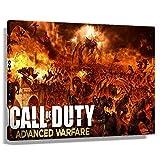 Call of Duty Advanced Warfare Game Poster COD Zombies Impresiones sobre lienzo Arte de pared Decoración para dormitorio rectangular hermosa decoración pop (90 x 60 cm), enmarcado)