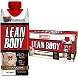 Lean Body Ready-to-Drink Chocolate Protein Shake, 40g Protein, Whey Blend, 0 Sugar, Gluten Free, 22 Vitamins & Minerals, (Recyclable Carton & Lid - Pack of 12) LABRADA from Labrada Nutrition