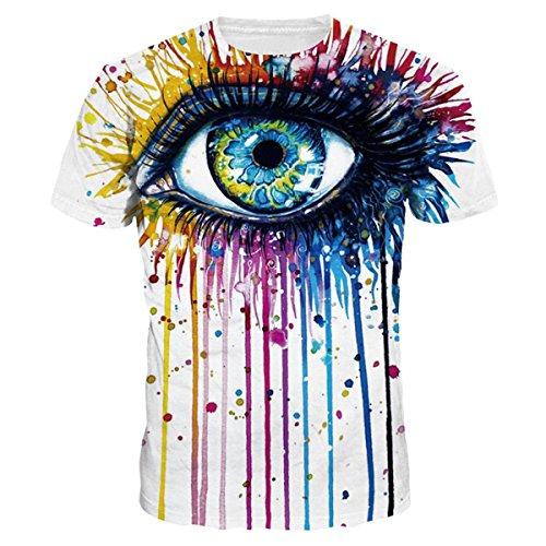 Discovery T-Shirts Manches Courtes Unisexe Motif 8d Imprimé Homme