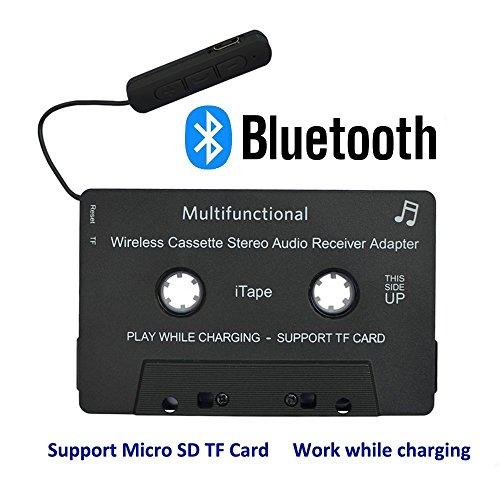 iTape cassette adaptador coche Bluetooth trabajo mientras se carga soporte tarjeta TF CSR Bluetooth V4.1 + EDR receptor audio estéreo adaptador para coche
