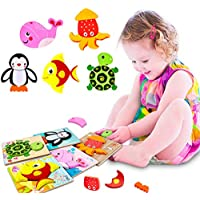 Petrip Wooden Toddler Jigsaw Educational Puzzles