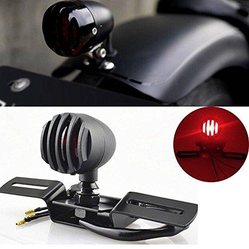 katur 112V 10W Motorrad Rücklicht Stop Lizenzen Bremse Lampe für Chopper Bobber Cafe Racer, Bullet Stahl Gehäuse Motorräder Licht für Harley
