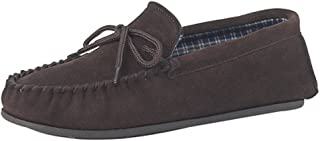 Mens Real Suede Leather Moccasins with Hard Wearing PVC Sole