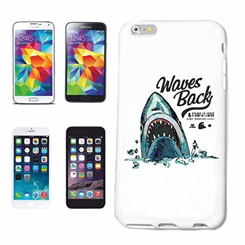 Reifen-Markt Handyhülle kompatibel mit Samsung Galaxy S7 Waves Back WEISSER HAI Shark ATTAC HAIFISCH Menschen HAI Megalodon BLAUHAI HAMMERHAI SCHWARZSPITZEN RIFFHA