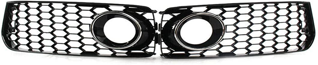 Honeycomb Hex Mesh Front Fog Light Grilles 1 Pair Fit For 2008-2012 Audi A5 S-Line S5 B8 RS5