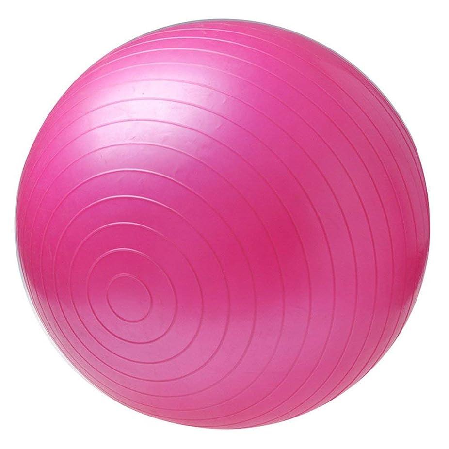些細なかわいらしい変色する非毒性スポーツヨガボールボラピラティスフィットネスジムバランスフィットボールエクササイズピラティスワークアウトマッサージボール - ピンク75センチ