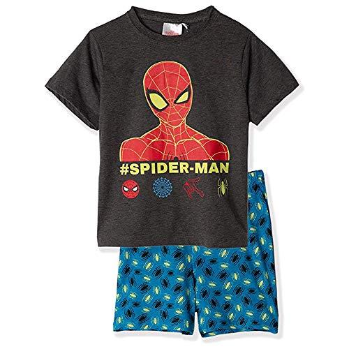 Spiderman Pijama de manga corta para niños, diseño original de Marvel de 2 a 8 años