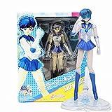 Sailor Moon Cartoon Figures Dolls Venus Jupiter Mercury Saturn Neptune Uranus Action Figures Collectible Model Toys (Mercury)