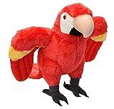 Wild Republic Scarlet Macaw Plush, Stuffed Animal, Plush Toy, Gifts for Kids, Cuddlekins 12 Inches