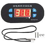 Controlador de temperatura digital ‑55‑120 ℃ Termostato ajustable Pantalla en grados centígrados para calentamiento y enfriamiento de incubadoras de congeladores 10 A 1 relé DC12V