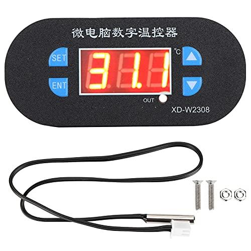 Zerodis Controlador de Temperatura Electrónico Inteligente con Pantalla Digital, Termostato de Incubadora de Microordenador LED con Relé de 10 A para Congelador de Cría