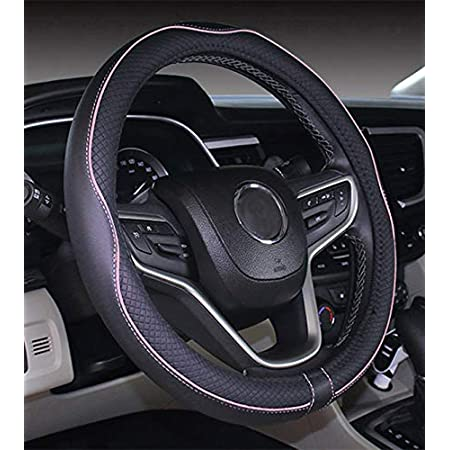 POYOMUK Unisex Black Lives Matter Car Steering Wheel Cover Universal Fit Car Decoration for Most Car,SUV