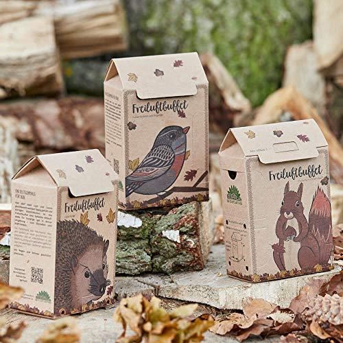 Die Stadtgärtner | Geschenkset Tierfutter | für Igel, Vögel und Eichhörnchen | Futterstelle