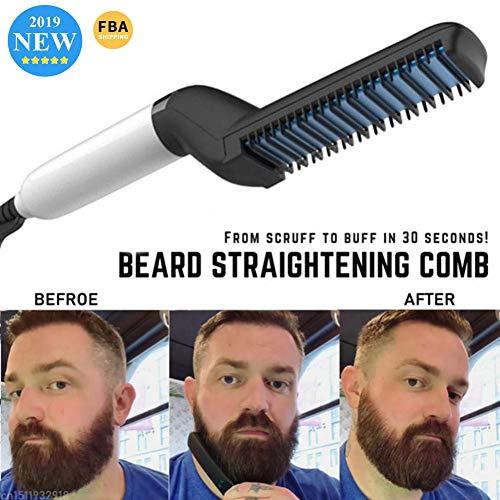 Pente de cabelo profissional multifuncional para alisamento de barba, penteador de cabelo 2019 estilo rápido alisador de cabelo para homens