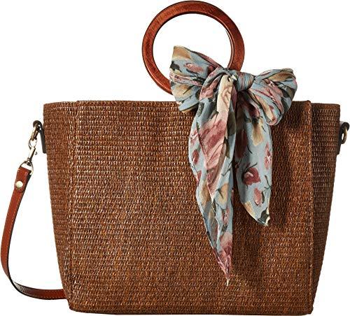 Patricia Nash Damen Handtasche aus Raffia Mariola, Braun (Schal mit rosafarbenen Rosen), Einheitsgröße
