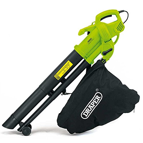 Draper 3000W 3 in 1 Garden Vacuum, Leaf Blower and Shredder Mulcher with Large 35 Litre Collection Bag and Extra Long 12m Cable