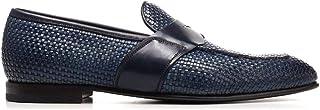 Luxury Fashion | Silvano Sassetti Men S19961X410XR13PBLU Blue Leather Loafers | Spring-summer 20