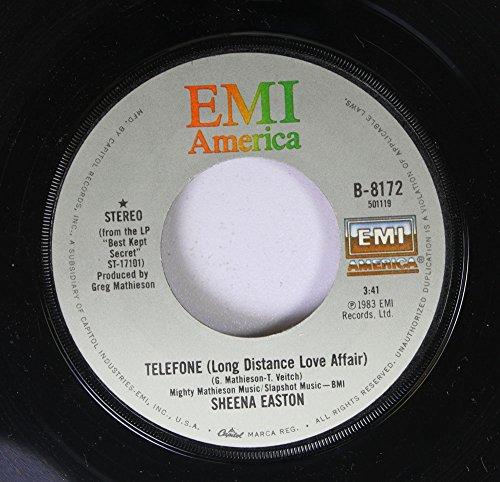 Sheena Easton 45 RPM TELEFONE / WISH YOU WERE HERE TONIGHT