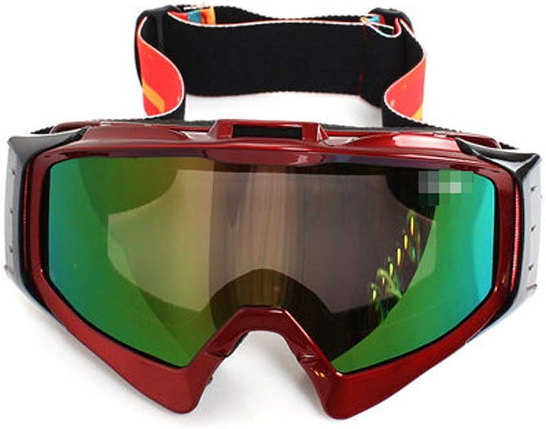 IUYWL Skibrille Anti-Beschlag groe, kugelfrmige HD-Bergsteiger-Windschutzscheibe im Freien Skibrille (Farbe   rot)