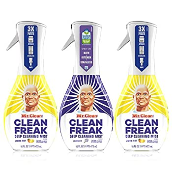 Mr Clean Multi Surface Cleaner Clean Freak Spray for Bathroom & Kitchen Cleaner Lavender & Lemon Scent 3 Count  16 fl oz Each