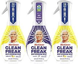 Mr Clean Multi Surface Cleaner, Clean Freak Deep Cleaning Spray, Lavender & Lemon Scent, Starter Kit, 3 Count, 16 fl oz