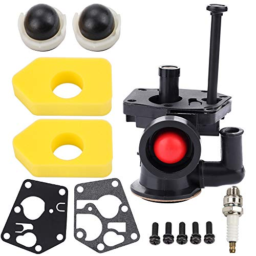 Kuupo Carburetor with Air Filter Maintaince Kits for Briggs and Stratton 795477 795469 794147 699660 794161 498811 9J900 9L900 9S500 9T500 9T700 Series Engine Lawn Mower