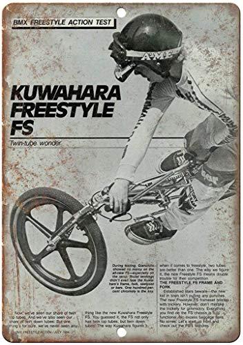 NOT Kuwahara Freestyle BMX Mag Wanddekor Metallplakat gemalt Retro Eisen Zinn Wandschilder Dekoration Plakette Warnung für Bar Kaffee Hotel Büro Schlafzimmer Karneval