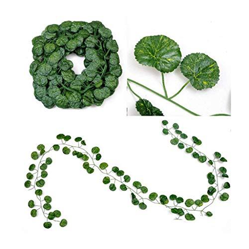 GOHHK Guirnalda de Hiedra Artificial decoración de Flores y Verduras, 12 hebras
