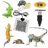 Bluesees - Tappetino riscaldante per rettili, USB, 5 V, 5 W, regolabile, Terrario, tartaruga, serpenti, lucertola, geco, ragno, crawler
