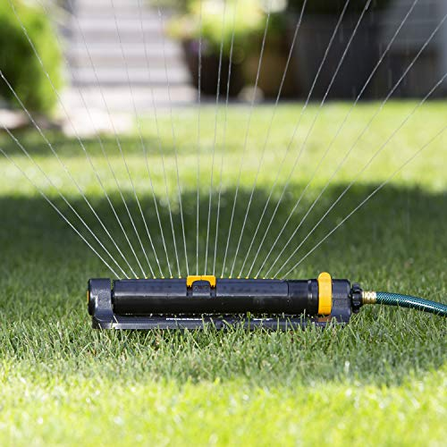 Melnor 65074-AMZ XT Turbo Oscillating Sprinkler with 2-Way Adjustment and QuickConnect Product Adapter Set, Amazon Bundle