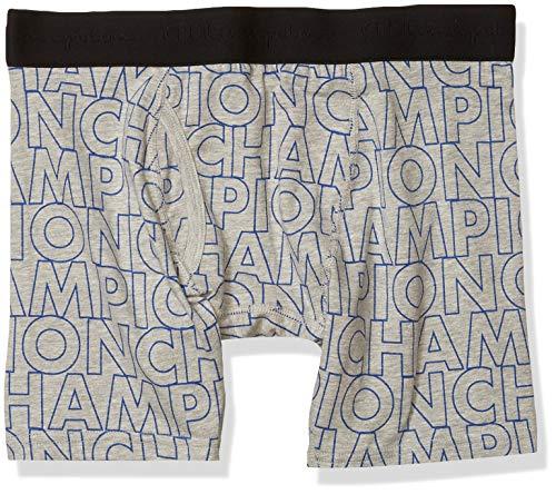 Champion Herren Block Printed Boxer Brief Slip, Oxford-Grau, Medium