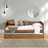 Mid-Century Modern Daybed and Trundle Set/Solid...