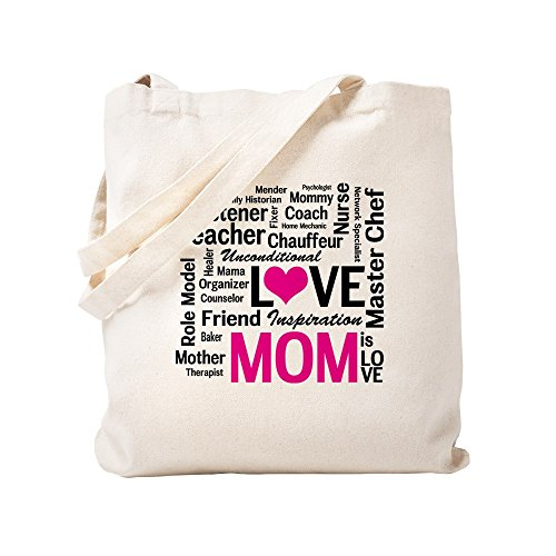 CafePress Do It All Mom, Mother's Day, Birthday Natural Canvas Tote Bag, Reusable Shopping Bag
